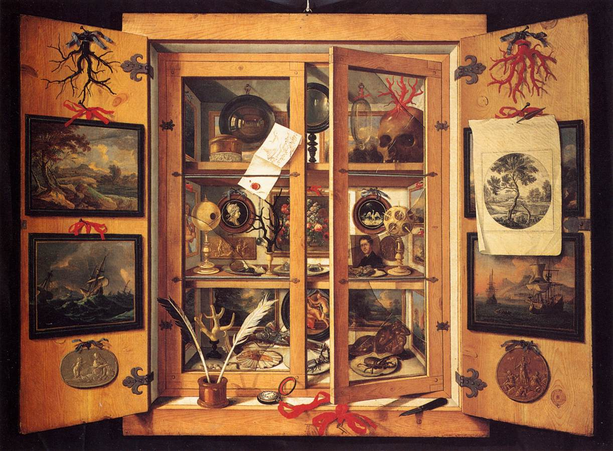 Cabinet Of Curiosities 1690s By Domenico Remps