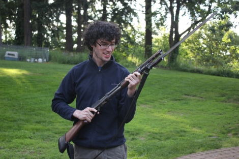 Alan with the Winchester M97