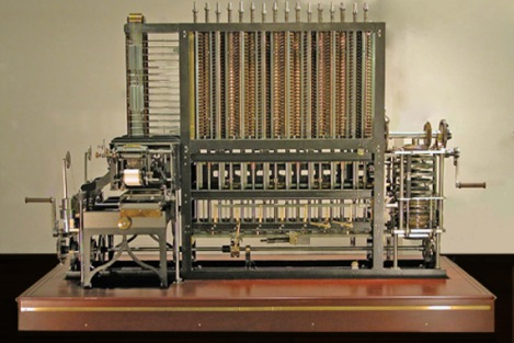 A difference engine, built from Babbage's plans
