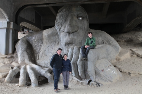 The Troll under the bridge, in Seattle. I almost forgot about this!