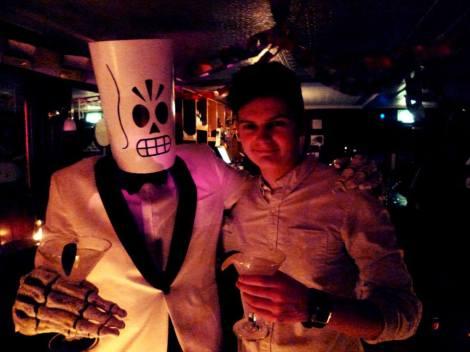 Calum and I, at the Dia de los Muertos event in White's Tavern