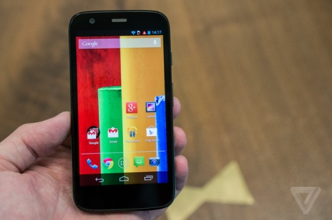 Moto G (photo from the Verge)