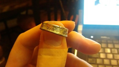 One of my double-sided coin rings