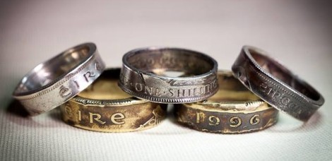 Just a few of the coin rings I
