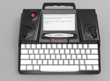 The Hemingwrite. One can dream...