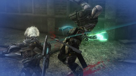 Slicing action! Raiden will stop at nothing to slice his foes into tiny pieces
