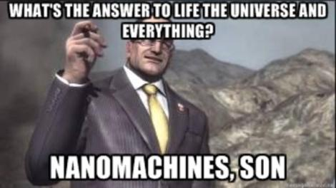 The answer to every question in the Metal Gear universe...nanomachines