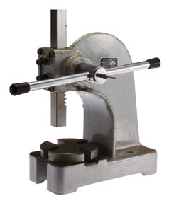 The very handy arbor press.