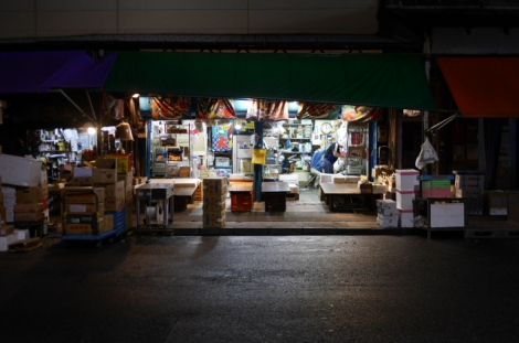 The outer market at night