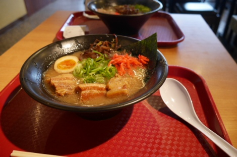 Tonkotsu ramen with pork belly. Mmmm