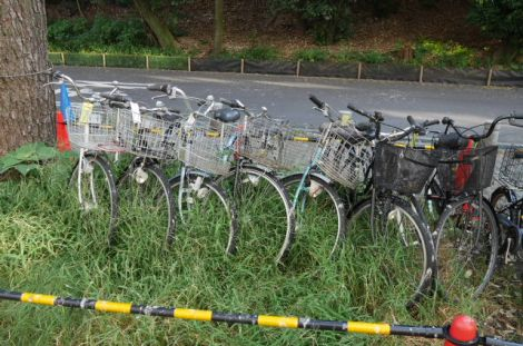 Abandoned bicycles at Nagoya U