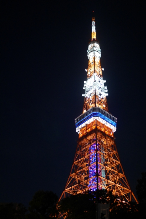 Tokyo tower, seen from the restaurant