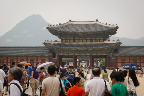 Gyeongbokgung Palace and the Mountains