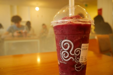 Blueberry and earl grey smoothie