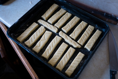 The shortbread! Well, before cooking