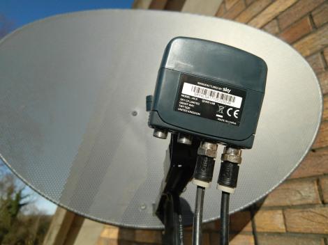 quad lnb sky freesat installation